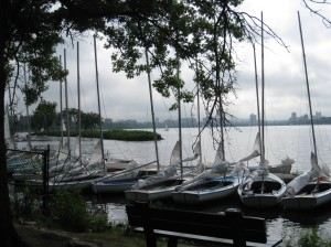 A gorgeous setting ... sailboats on the Charles River ... seen while touring