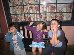 Chase, Reese, Koby goofing at Jordan's Furniture Store, which has the GREATEST 3-D IMAX theater (can you believe it???)!